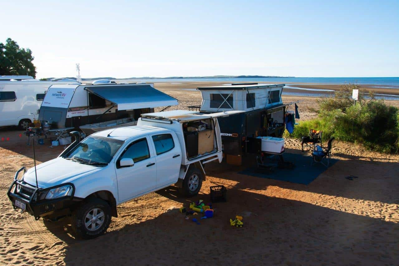Private camping at Cossack