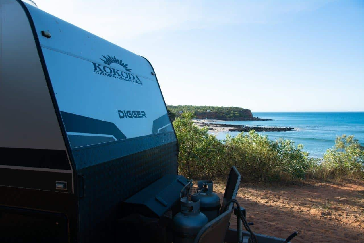 Caravan beach camping