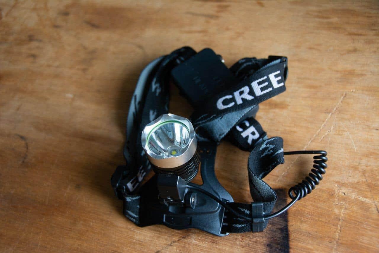 Cree head torch