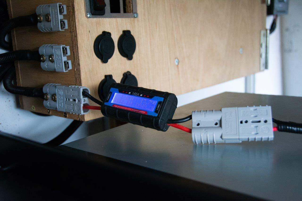 Watt metre in use