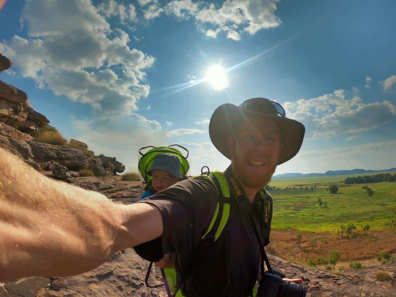 Climbing Ubirr