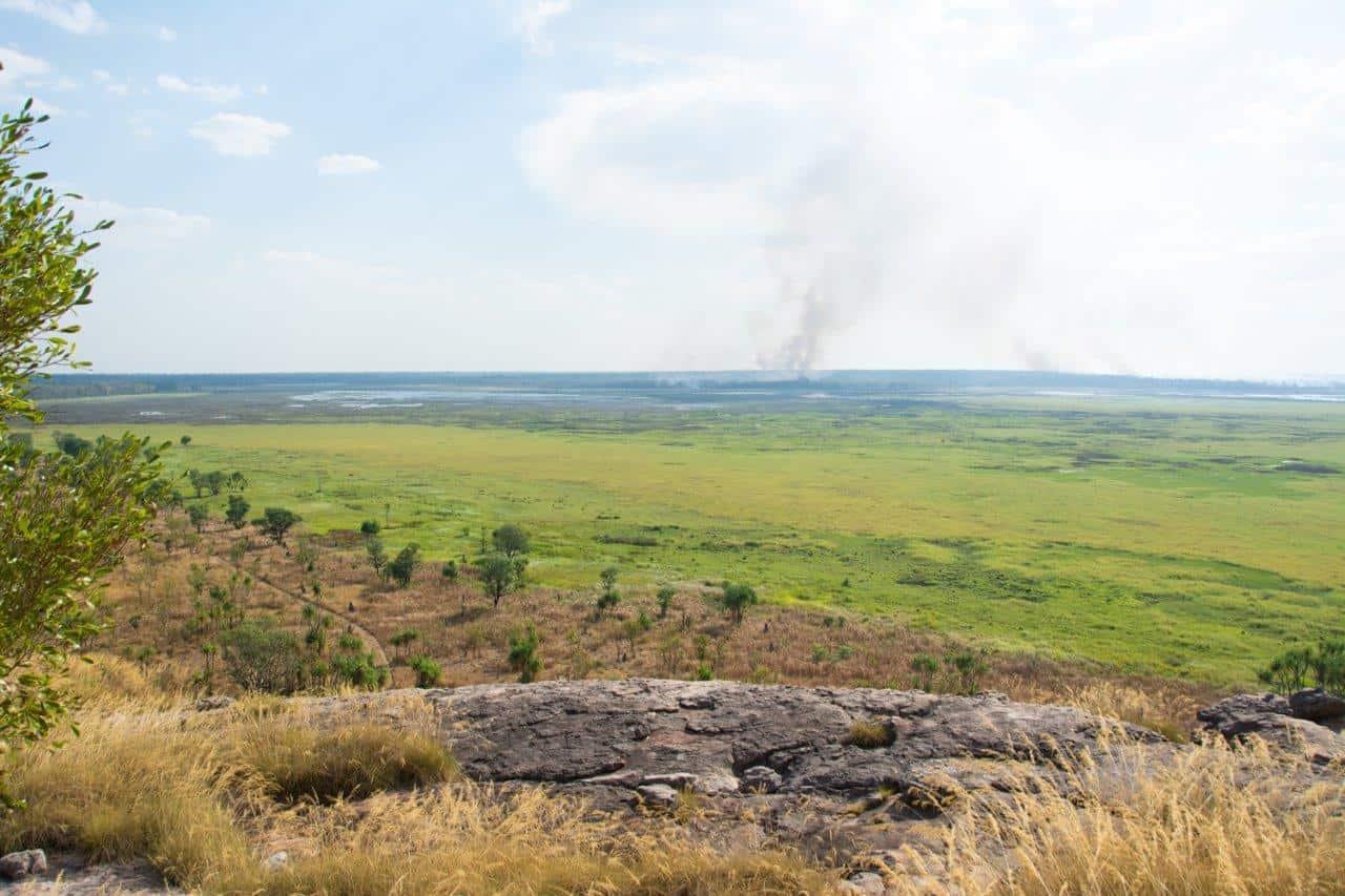 Fires burning in Kakadu
