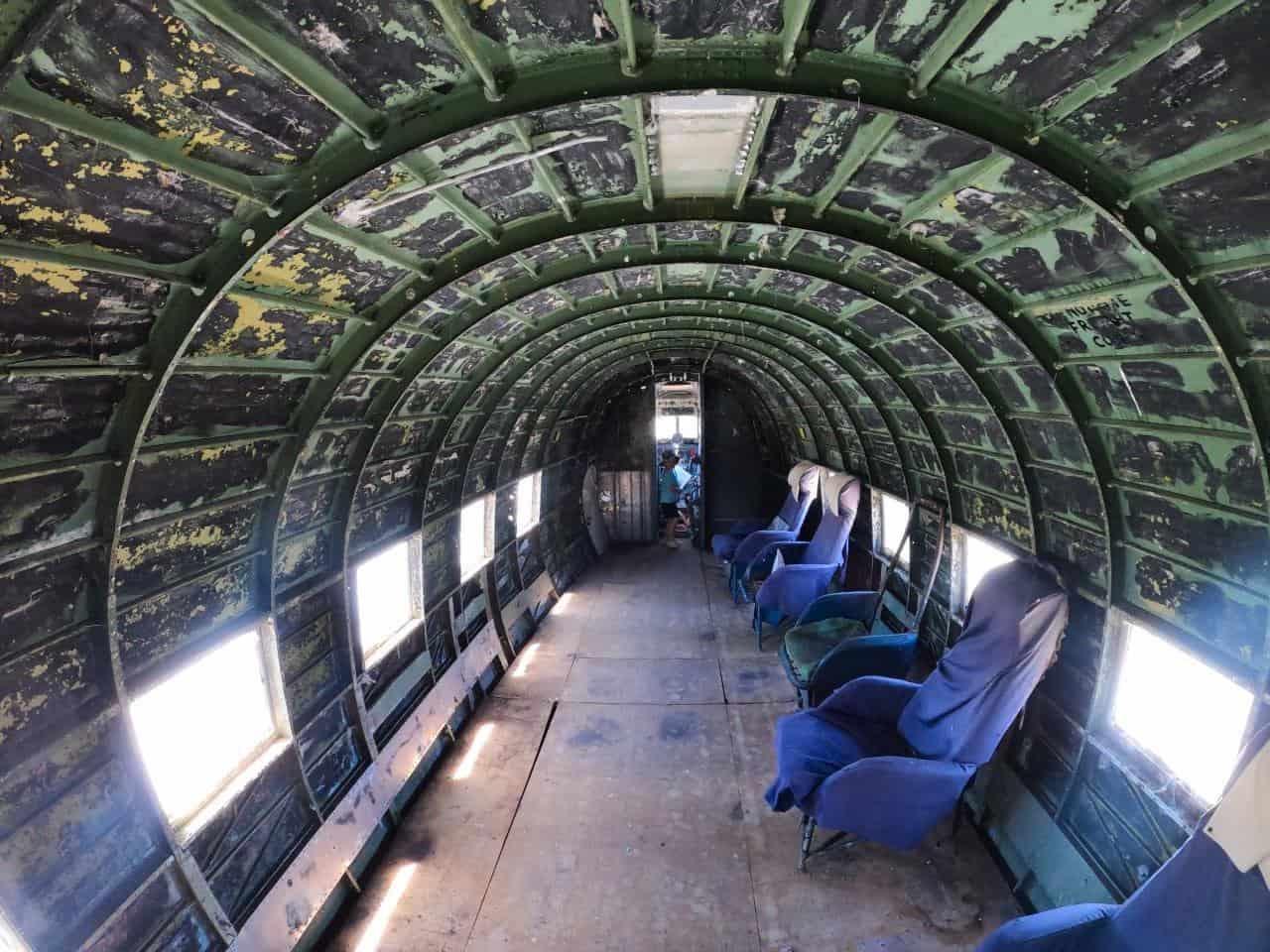 Inside the plane at Preston Lime