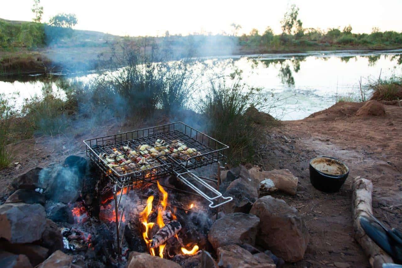 Camp Braai cooking