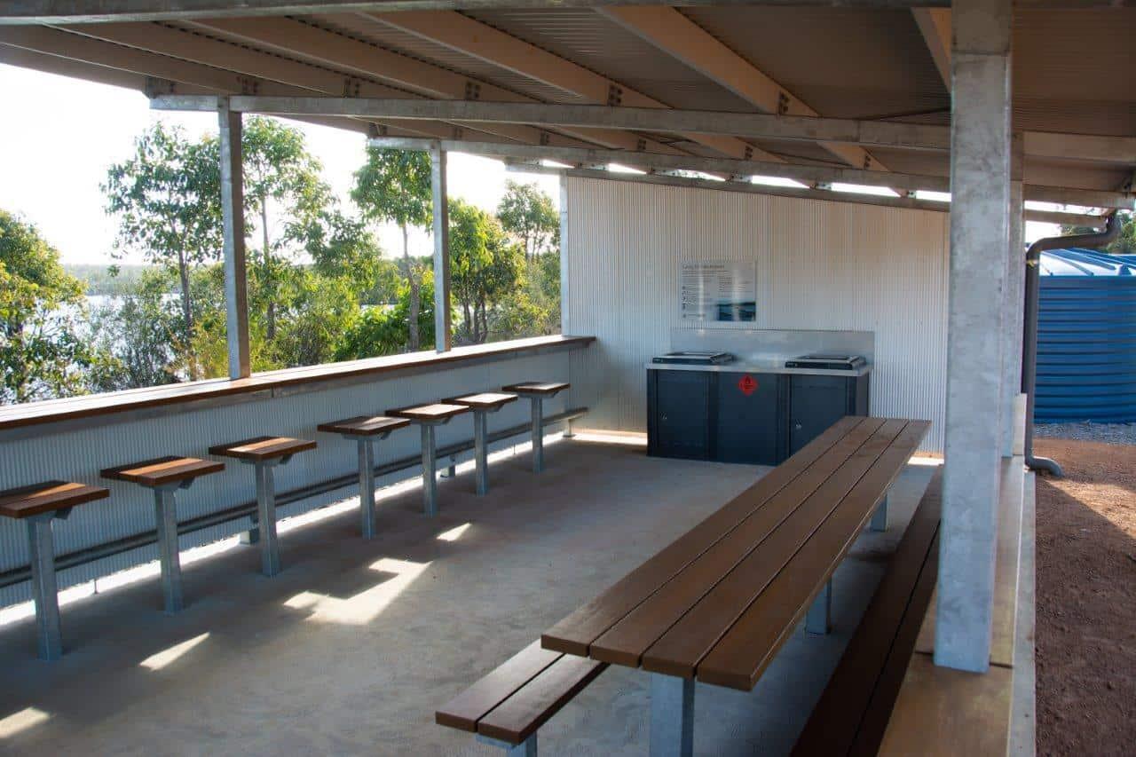 Camp Kitchen at Lake Kepwari
