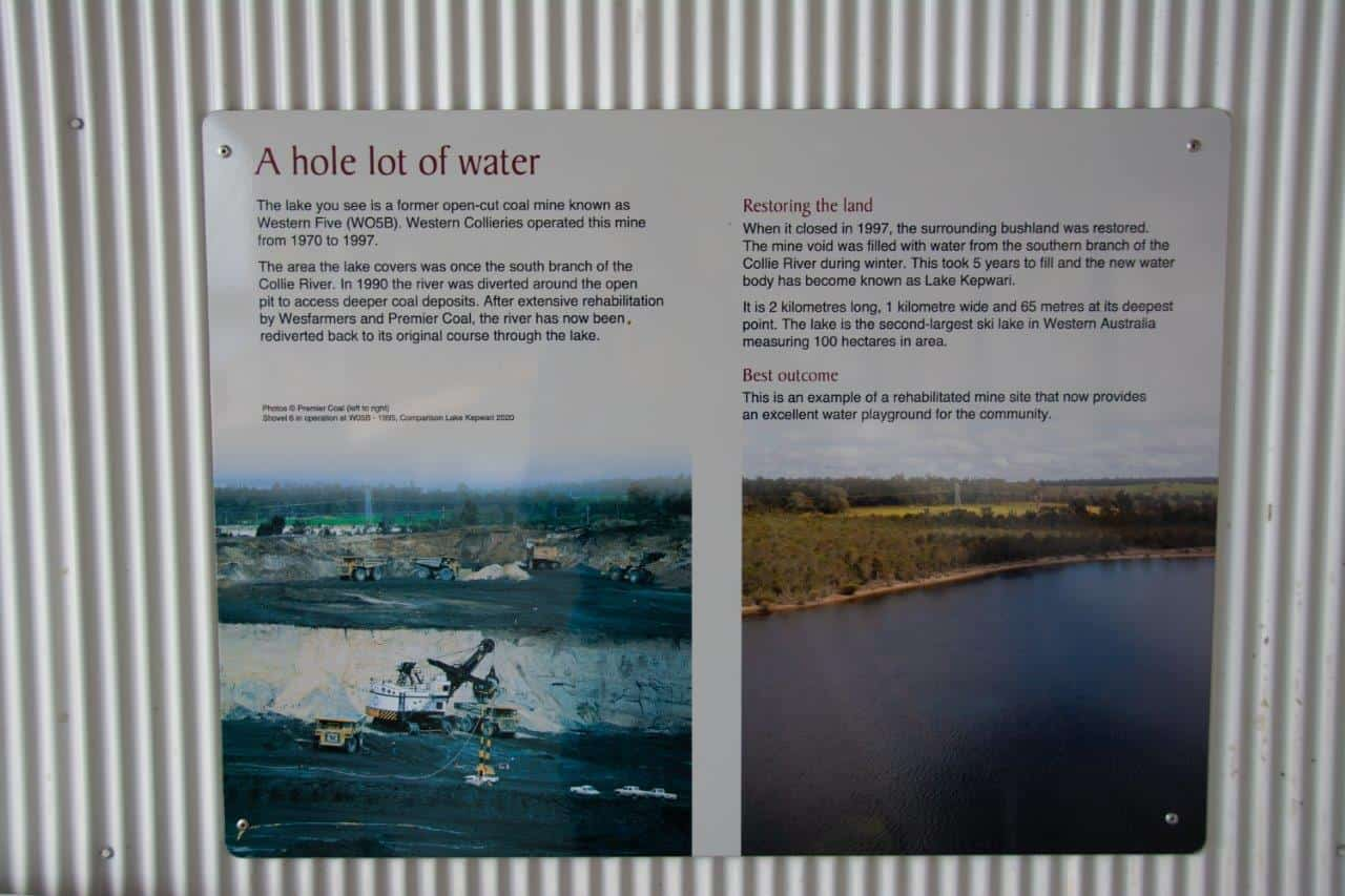 Lake Kepwari information sign